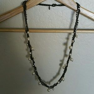 J. Crew Braided Pearl Necklace